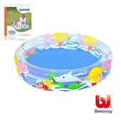 《艾可兒》Bestway。兒童透明海洋生活充氣水池