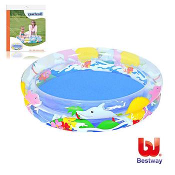 艾可兒 Bestway。兒童透明海洋生活充氣水池