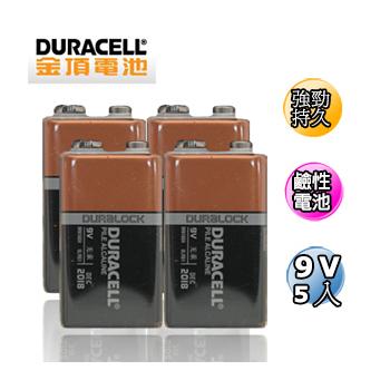 《金頂》鹼性電池 9V 5入吊卡裝