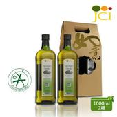 《JCI艾欖》西班牙原瓶原裝進口 特級冷壓初榨橄欖油禮盒(1000ml*2,送精美提袋)