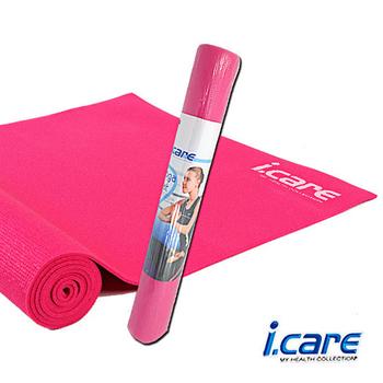 《艾可兒I.CARE》瑜珈墊0.4cm粉(附網狀背袋)JIC030-1