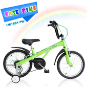 《EASE BIKE》18吋6速 SHIMANO 巨輪多功能休閒車 輔助輪 童車(綠色)