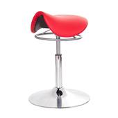 《GXG》馬鞍型 工作椅 TW-T04 (金屬盤款)(紅色)