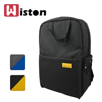 Wiston 多功能簡約雙肩後背相機包(經典黑)