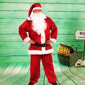 《樂活e棧》聖誕節MIT豪華加厚禦寒版-聖誕老人服裝(豪華5件套組)