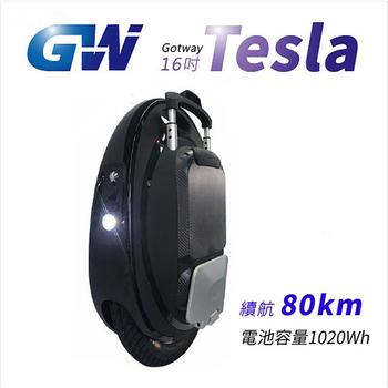 《TECHONE》Gotway Tesla 16吋1020wh 電動獨輪車/平衡車(黑)