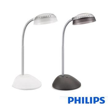 飛利浦PHILIPS 酷樂 LED檯燈 66027(黑/白兩色)送!運動腰包(黑色)