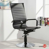 LOGIS安菲米皮革高背吧椅 梳妝椅 辦公椅 事務椅【 BP20A0】(黑色)