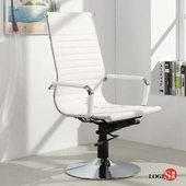 LOGIS安菲米皮革高背吧椅 梳妝椅 辦公椅 事務椅【WP20A0】(白色)