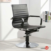 LOGIS安菲米皮革低背吧椅 梳妝椅 辦公椅 事務椅【 BP10A0】(黑色)