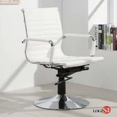 LOGIS安菲米皮革低背吧椅 梳妝椅 辦公椅 事務椅【WP10A0】(白色)