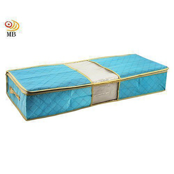 《月陽》80X40竹炭彩色透明視窗床下棉被衣物收納袋整理箱(C70L)(綠色)