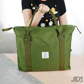 《韓版》簡約質感大容量旅行手提/拉桿收納包(綠色)
