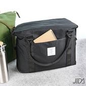 《韓版》簡約質感大容量旅行手提/拉桿收納包(黑色)懸掛式多用途網格收納袋