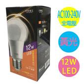 太星電工 12W LED省電燈泡 2入(黃光)