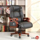 LOGIS-阿伯特真皮主管辦公椅 電腦椅 皮椅【1001】(黑色)