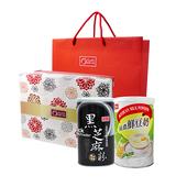 《康健生機》養生沖調禮盒(黑芝麻粉+純濃鮮豆奶)(組)