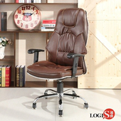 LOGIS邏爵-威卡不達斯皮質主管椅/辦公椅/電腦椅26(木質棕)