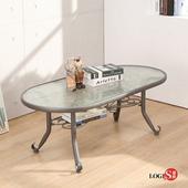 LOGIS邏爵~雅典玻璃茶几/橢圓桌/客廳桌 TA11