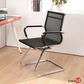 LOGIS安迪透氣網中低背事務椅 梳妝椅 辦公椅 電腦椅 書桌椅【CA65】(黑色)
