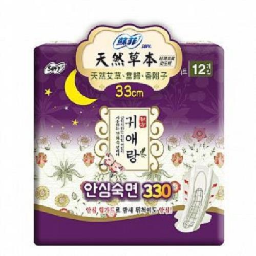 《蘇菲》天然草本衛生棉33cm(12片*1入)