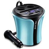 《英才星HSC》多功能車用USB充電杯藍色 $698