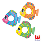 《艾可兒》《Bestway》可愛熱帶魚造型充氣泳圈-隨機出貨