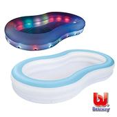 《艾可兒》Bestway。變色彩燈家庭充氣戲水/泳池