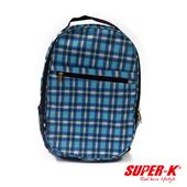 《艾可兒》《SUPER-K》手提後背兩用包-藍格紋SHB24515☆加厚透氣背墊