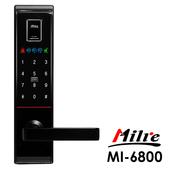 《Milre美樂》四合一密碼/指紋/卡片/鑰匙智能電子門鎖MI-6800(附基本安裝)(黑色)