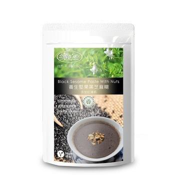 樸優樂活 養生堅果黑芝麻糊-微糖(添加紅藻鈣)(400g/包)(*1)
