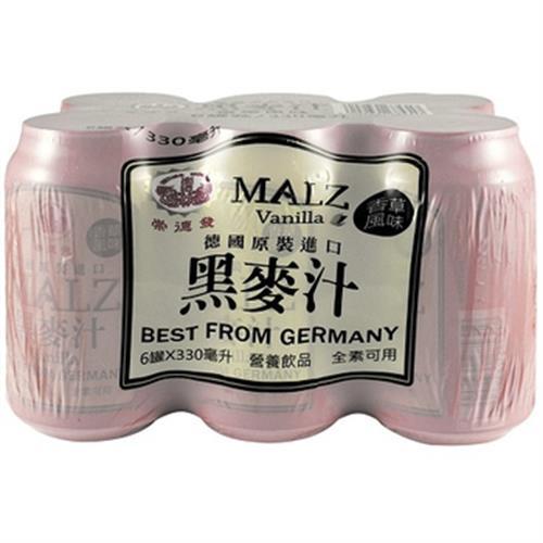 崇德發 香草黑麥汁(330ml*6罐/組)