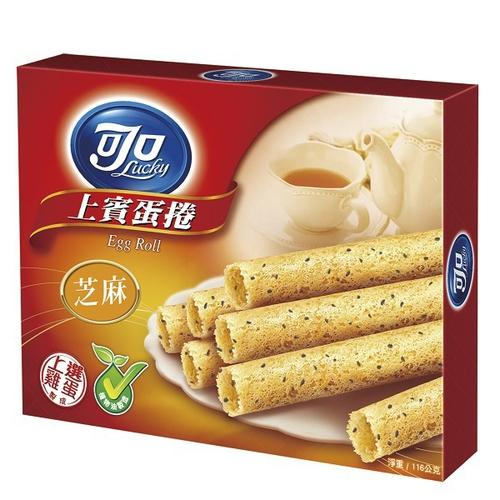 《可口》上賓蛋捲量販包芝麻口味(116g)