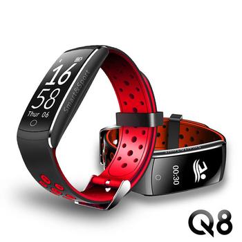 《長江》u-ta運動防水觸控心率手環Q8(公司貨)(紅黑)
