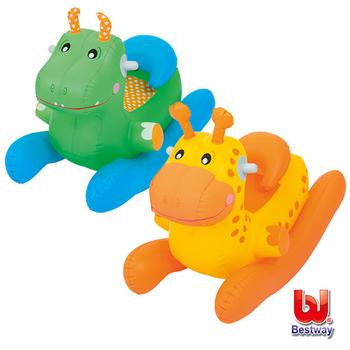 艾可兒 Bestway。動物造型充氣搖搖椅-恐龍/長頸鹿(隨機出貨)