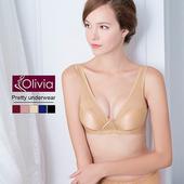 《Olivia》無鋼圈無痕網紗舒適聚攏內衣(膚色)(膚色-75D)