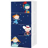 《騎士公主》收納櫃四層(兩色可選)(藍色)