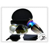 《視鼎Z-POLS》【 極緻系列次世代款】帥氣超質感一片式五組可換片(四款顏色可選)可調設計運動眼鏡 / 太陽眼鏡 / 墨鏡(霧面藍)