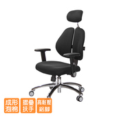 《GXG》GXG 高背泡棉座 雙背椅 (鋁腳/摺疊升降扶手) TW-2993 LUA1(請備註顏色)