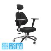 《GXG》雙背涼感 電腦椅 (鋁腳/4D升降扶手) TW-2995 LUA7(請備註顏色)