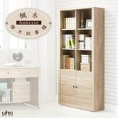 《書櫥【久澤木柞】》木心板2.7尺書櫃(橡木紋)