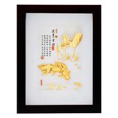 《My Gifts》立體金箔畫-連年有餘(古香系列22.7x17.6cm)