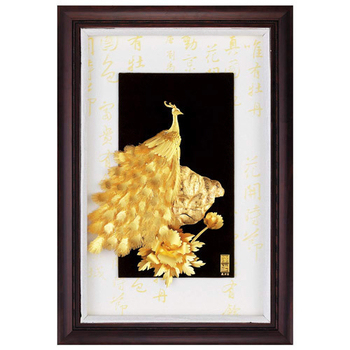 《My Gifts》立體金箔畫-花開富貴(小彩金系列48x34cm)