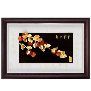 《My Gifts》立體金箔畫-事事如意(小彩金系列48x34cm)