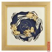 立體金箔畫-如魚得水(真愛系列22.7x22.7cm)