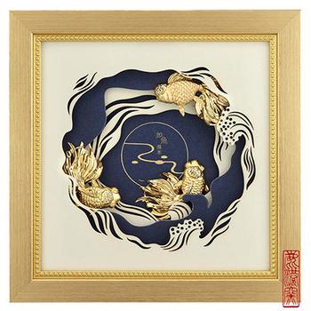 《My Gifts》立體金箔畫-如魚得水(真愛系列22.7x22.7cm)