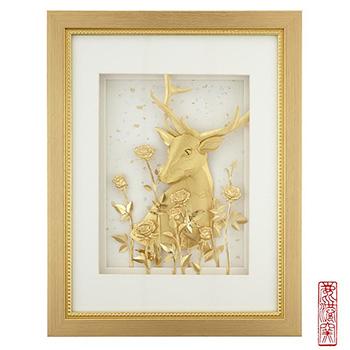 《My Gifts》立體金箔畫-一鹿有你(真愛系列32.5x25.5cm)