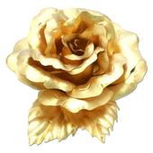 立體金箔花-典藏黃金玫瑰-胸花(精緻禮盒)