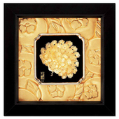 立體金箔畫-富貴吉祥(如意系列19x19cm)