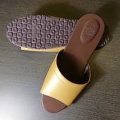 《台灣製》PP繽紛室內皮革拖鞋華麗金(26cm)